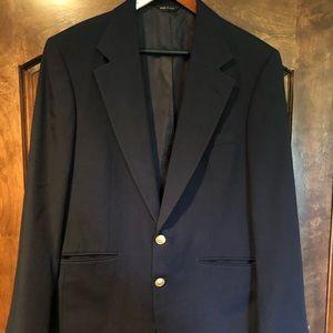Polo University Club Navy Blazer 40 42 Sport Coat